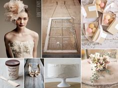 soft blush, champagne and neutral shabby chic vintage