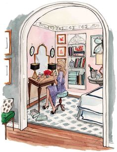 """my room as a single and/or an elder daughters room [door left off for no """"funny business""""]"""