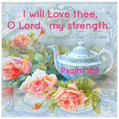 Psalms 18:1 (KJV) I will love thee, O Lord, my strength.