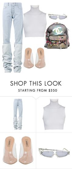 """""""Untitled #36"""" by nelaantonella ❤ liked on Polyvore featuring Y/Project, Chanel and Alain Mikli"""
