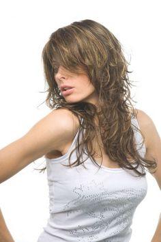 Medium Shag Hairstyles, Haircuts For Curly Hair, Short Hair With Bangs, Curly Hair Styles, Brown Curly Hair, Long Curly Hair, Long Hair Cuts, Copper Blonde Balayage, Coffee Hair Dye