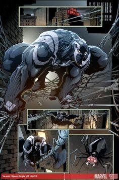 Venom: Space Knight #11 preview art by Gerardo Sandoval