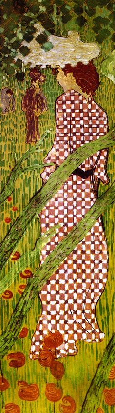 The Athenaeum - Woman in the Garden (panel 3) (Pierre Bonnard - )