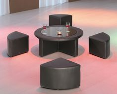 Coffee Table With Stools Mini Round