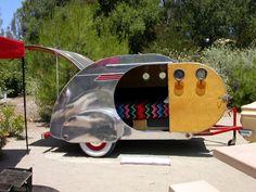 1949 Streamliner Vintage Teardrop Travel Trailer Camper