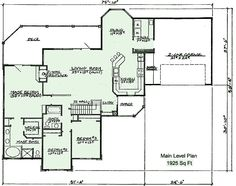ranch with walk out basement house plans | 401 Floor Plan for House Plan by CreativeHousePlans.com