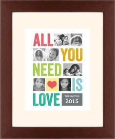All You Need Is Love Framed Print | Wall Art | Shutterfly