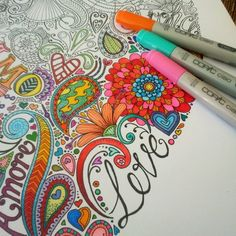 Colour progress #love #heart #helloangel #illustration #ink #color #flower #aroha #choosecopic #copic #amore #artline | Flickr - Photo Shari...