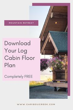 Choose the log home floor plan that is right for you! #cariboucreekloghomes #loghomedesign #logcabinfloorplans Log Cabin Floor Plans, House Floor Plans, Timber Frame Homes, Timber House, Log Home Designs, Log Cabin Homes, Mountain Homes, Cabin Fever, Plan Design