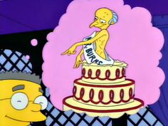 smithers and Mr. Burns-the simpsons Simpsons Simpsons, Simpsons Quotes, Playlists, Family Tv, Death Metal, Godzilla, Happy Birthday, Birthday Msgs, Vintage Cartoon
