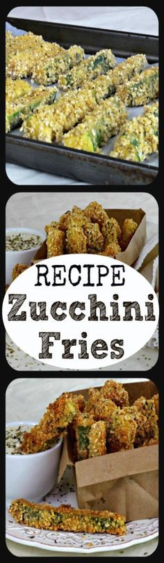 Repin to save recipe and share with friends!  These crispy, delicious zucchini fries are a great way to enjoy your garden vegetables. You can use pre-seasoned breadcrumbs, or add your own unique seasoning to plain breadcrumbs. This recipe is also great when using gluten free breadcrumbs.