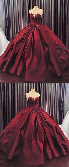 V-neck Prom Dress, Burgundy Prom Dress, Appliques Prom Dress, Ball Gown Prom Dress, Sexy Prom Dress Prom Dresses Long Ball Gowns Evening, Ball Gowns Prom, Ball Gown Dresses, Evening Dresses, Chiffon Dresses, A Line Prom Dresses, Prom Dresses Online, Dresses For Teens, Long Dresses