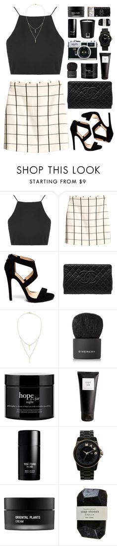 """""""RKY #88"""" by rkingy ❤ liked on Polyvore featuring Topshop, H&M, Chanel, Alicia Marilyn Designs, Givenchy, philosophy, Eight & Bob, Tom Ford, Marc by Marc Jacobs and Koh Gen Do"""
