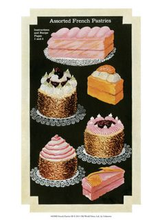Vintage posters: French pastries