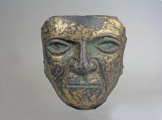 Mask  Date:     1st century BCE–7th century CE Geography:     Peru Culture:     Moche Medium:     Copper, gilt