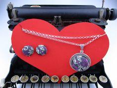 Un preferito personale dal mio negozio Etsy https://www.etsy.com/it/listing/503758631/parure-orecchini-collana-con-ciondolo