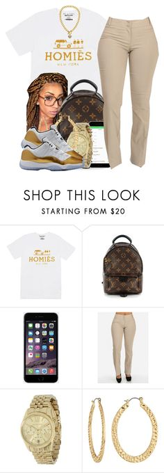 """First Day Of School"" by polyvoreitems5 ❤ liked on Polyvore featuring Sirius, Louis Vuitton, Michael Kors, Fragments and Juicy Couture"