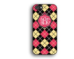 monogram iphone casered yellow iphone 5s by artercase on Etsy, $9.99