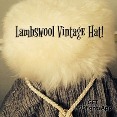 Host Pick 2.7Vintage White Lambswool Hat! Mint condition! 100% Lambswool made in Italy. Purchased at Art Deco show. Gorgeous and very James Bond girl! Fits a S-M. Very soft and warm! Vintage Accessories Hats