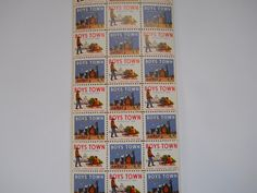Father Flanagan's Boys Home. Boys Town, Nebraska  1958 Annual Seal Stamp