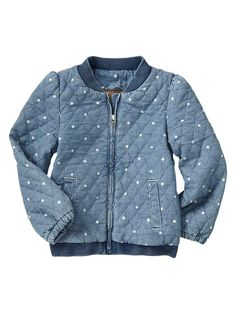 Gap | Quilted dot chambray jacket