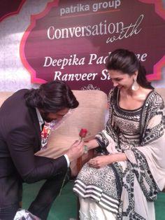Deepika and Ranveer - Ram Leela promo in Jaipur