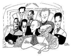 Star Trek Deep Space 9 (DS9) – Hirschfeld – Cast