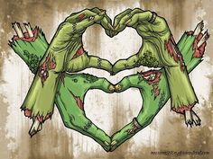 Zombie Hands Art Print by jgennn Horror Comics, Horror Art, Zombie Kunst, Arte Zombie, Illustrations, Illustration Art, Arte Black, Drawn Art, Zombie Girl