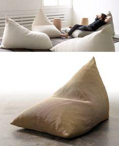 A house with a bean bag room...