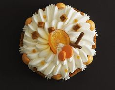 beautiful... an orange sorbet with meringue and vanilla cream from Arnaud Delmontel