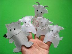 игрушки из фетра выкройки пальчиковый театр