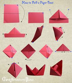 If you're searching for a simple, very low cost and efficient means to bring some art to your walls try making your personal woven paper artwork. Make A Paper Boat, Make A Boat, Build Your Own Boat, Mobil Origami, Origami Sailboat, Crafts To Make, Easy Crafts, Paper Bag Puppets, Paper Artwork