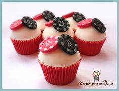 Poker Chips Cupcakes