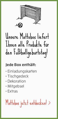Hier Gibts Tolle Mottoboxen Für Den Kindergeburtstag Im Fußball Thema : )