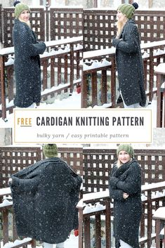 1f205d026f Oversized cardigan knitting pattern - Make yourself a cozy knit chunky  cardigan that can be made