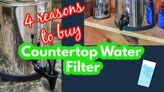 This is the video version of Four Reasons to Buy a Countertop Water Filter.  Watch this video and share it with your friends and family. Homestead Survival, Survival Kit, Countertop Water Filter, Water Purification, Disaster Preparedness, Countertops, Filters, Watch, Friends