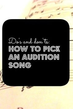 How to choose an audition song, by Lai Rupe's Choreography www.LaiRupe.com. I cant dance for the life of me but this might be helpful to others