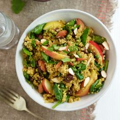 Take a break from rice and give quinoa a try. A grain that is both high in protein and fibre.