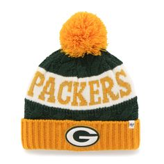 watch 1dfd6 8276d Green Bay Packers 47 Brand Womens Swanson Cuff wPom Knit Beanie – Green