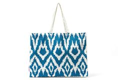 Ikat Tote, Blue on OneKingsLane.com  If I could be made into a tote this is what I would look like <3