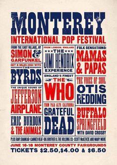 1967 Monterey Pop Festival Poster