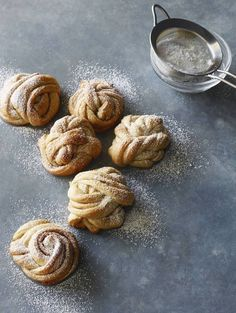 The most delicious and fun Swedish Cinnamon Rolls from www.whatsgabycooking.com (@whatsgabycookin) - basically a fun twist on a cinnamon roll dusted with powdered sugar!