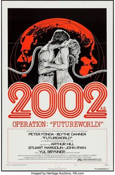 "FUTUREWORLD 1976 27"" x 41"" Original Movie Poster One Sheet Style C Peter Fonda    eBay"