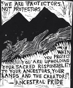 """""""We are protectors not protestors, when you protect you are upholding your…"""