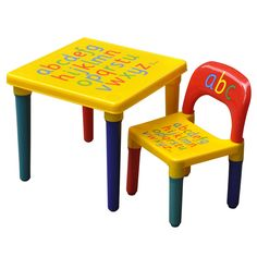 Tinxs Children Kids Alphabet Learn \u0026 Play Table \u0026 Chair Set Children Furniture Educational Gift  sc 1 st  Pinterest : baby table set - pezcame.com