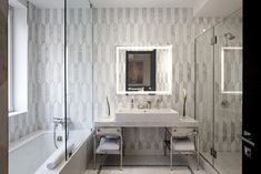 Designs by Sundown is a 2020 Gold List honoree featured in Luxe Interiors + Design. See more of this design professional's projects. Contemporary Bathroom Designs, Bathroom Tile Designs, Bathroom Trends, Eclectic Bathroom, Bathroom Interior, Modern Bathroom, Master Bathroom, Wall Tiles Design, Interior Design Process