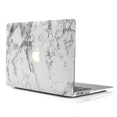 MacBook Air Case 11'' iDOO [Marble Pattern]Print Hard Case,[Matte Rubber Coated] Hard Shell Cover - White (Not Fit For MacBook Pro with Retina Display) iDoo