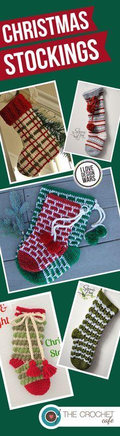 Crochet Patterns for Christmas Stockings