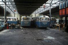 Oude stadsbussen van Nefkens die vroeger in Amersfoort reden. Volgens mij in de remise op de Havenstraat