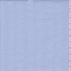 Light Blue Embroidered Stretch Twill - 29329 - Fabric By The Yard At Discount Prices - $3.95
